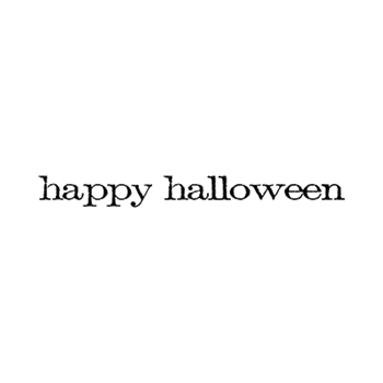 Tim Holtz Rubber Stamp HAPPY HALLOWEEN Stampers Anonymous E4-2154