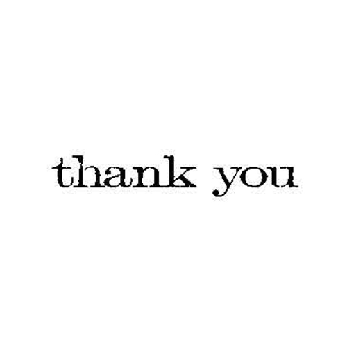 Tim Holtz Rubber Stamp THANK YOU Stampers Anonymous D6-2150 Preview Image