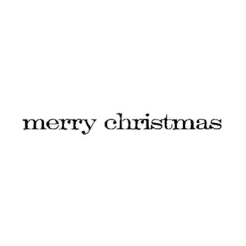 Tim Holtz Rubber Stamp MERRY CHRISTMAS Stampers Anonymous E4-2157