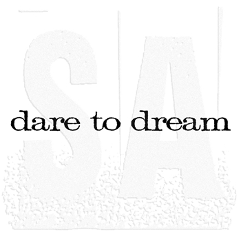 Tim Holtz Rubber Stamp DARE TO DREAM Stampers Anonymous E4-2168