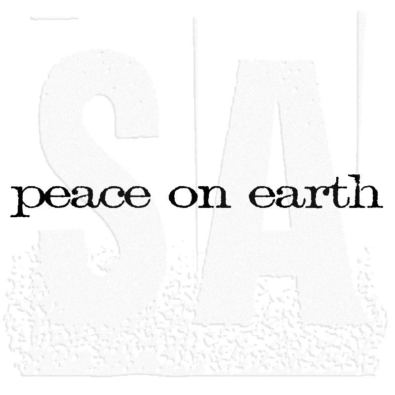 Tim Holtz Rubber Stamp PEACE ON EARTH Stampers Anonymous E4-2156 zoom image