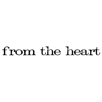 Tim Holtz Rubber Stamp FROM THE HEART Stampers Anonymous E4-2160