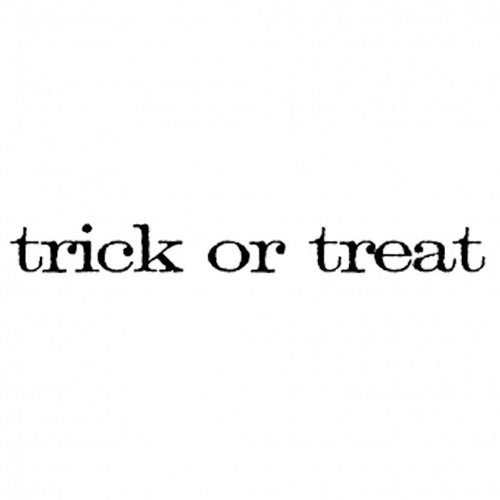 Tim Holtz Rubber Stamp TRICK OR TREAT Stampers Anonymous D5-2153 Preview Image