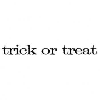 Tim Holtz Rubber Stamp TRICK OR TREAT Stampers Anonymous D5-2153