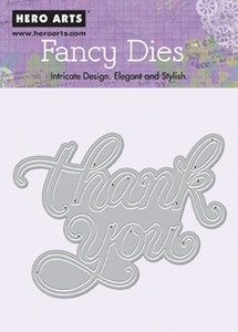 Hero Arts Fancy Die THANK YOU di080