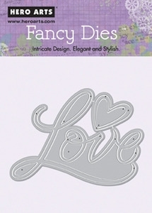 Hero Arts Fancy Die LOVE AND HEART di081