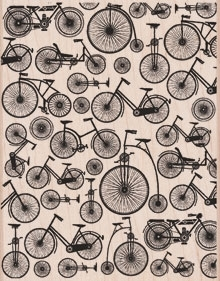 Hero Arts Rubber Stamp DESIGNBLOCK BICYCLE BACKGROUND s5770