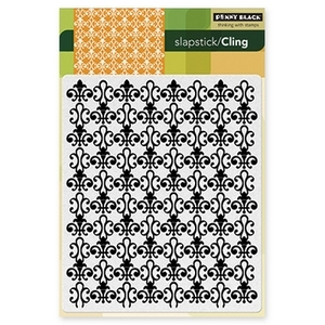 Penny Black Cling Stamp FLEUR DE LYS Rubber Unmounted 40-204