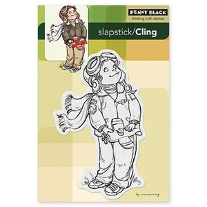 Penny Black Cling Stamp AIR BOY Rubber Unmounted 40-210
