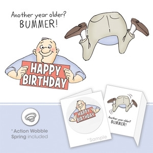 Art Impressions BUMMER SET Shake Your Booty Cling Rubber Stamps 4241