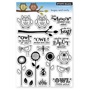 Penny Black Clear Stamps BUGSY AND OWLY 30-110
