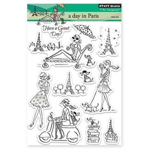 Penny Black Clear Stamps A DAY IN PARIS 30-157