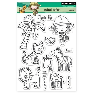 Penny Black Clear Stamps MIMI SAFARI 30-149