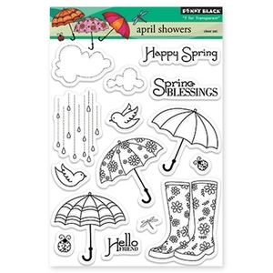 Penny Black Clear Stamps APRIL SHOWERS 30-172 zoom image