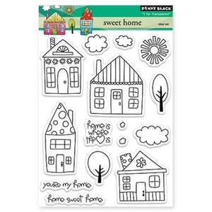 Penny Black Clear Stamps SWEET HOME 30-170