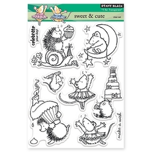 Penny Black Clear Stamps SWEET AND CUTE 30-153