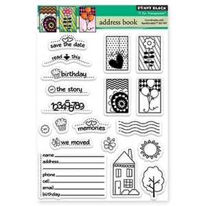 Penny Black Clear Stamps ADDRESS BOOK 30-169
