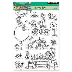 Penny Black Clear Stamps KITTY'S DAY 30-158*