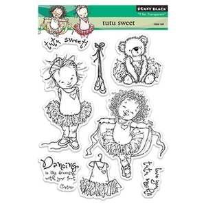 Penny Black Clear Stamps TUTU SWEET Transparent 30-154