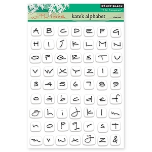 Penny Black Clear Stamps KATE'S ALPHABET 30-168*