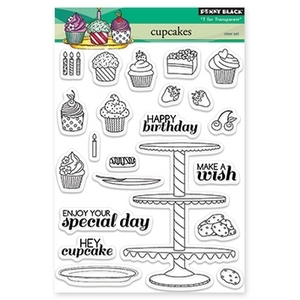 Penny Black Clear Stamps CUPCAKES 30-171