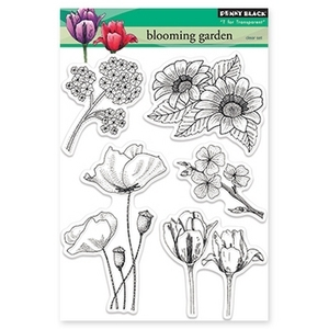 Penny Black Clear Stamps BLOOMING GARDEN 30-155