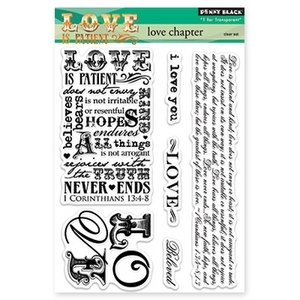 Penny Black Clear Stamps LOVE CHAPTER 30-163*