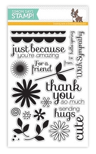 Simon Says Clear Stamps FLOWER FRIEND SSS130301
