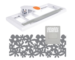 Fiskars ADVANTEDGE PUNCH SYSTEM STARTER SET with Flower Garden Interchangeable Cartridge Punch Border 04267*