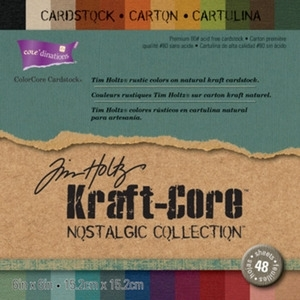 Tim Holtz Core'dinations KRAFT CORE NOSTALGIC ColorCore 6 X 6 Cardstock GX-1920-28