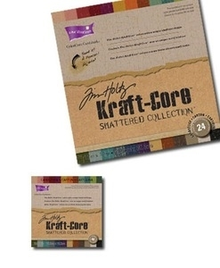 Tim Holtz Core'dinations KRAFT CORE SHATTERED ColorCore 6 X 6 Cardstock GX-1940-25