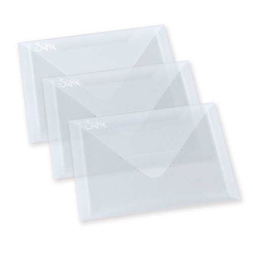 Sizzix PLASTIC ENVELOPES 3 PACK For Thinlits 654452 Preview Image