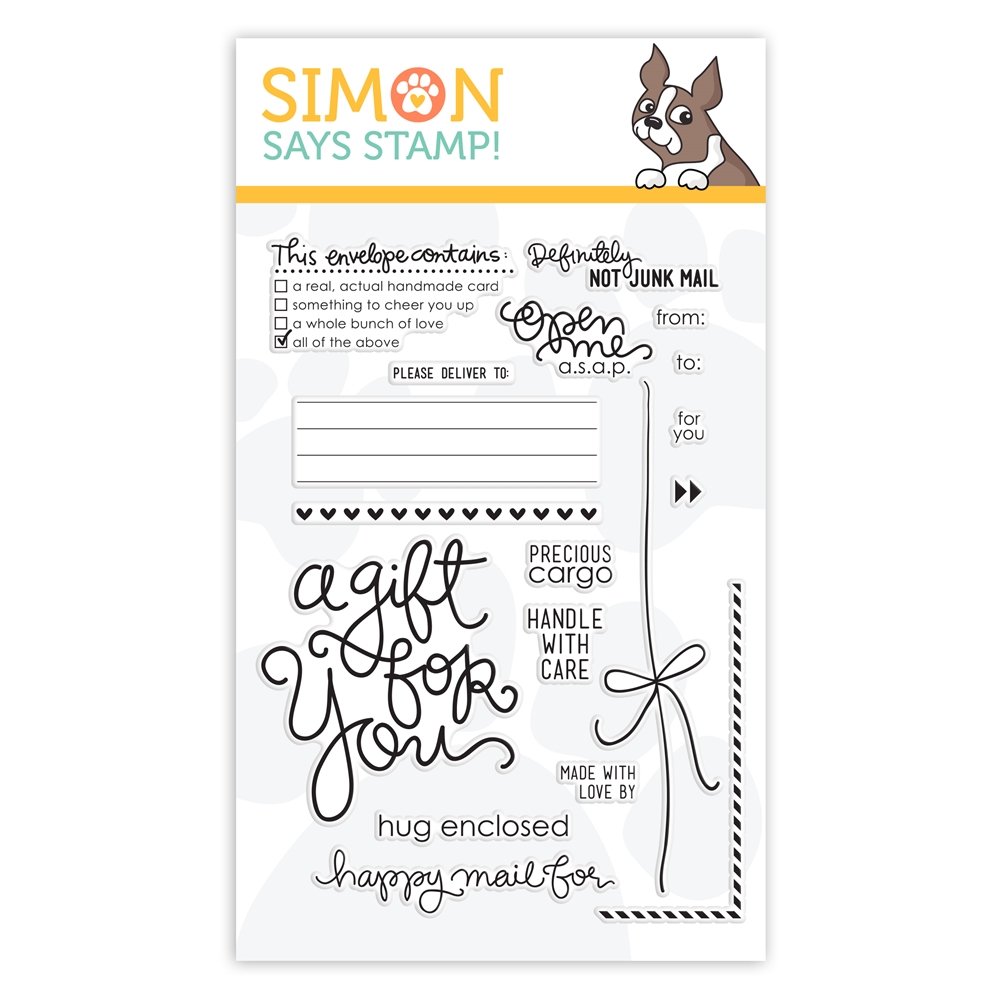 Simon Says Clear Stamps ENVELOPE SENTIMENTS sss101303 zoom image