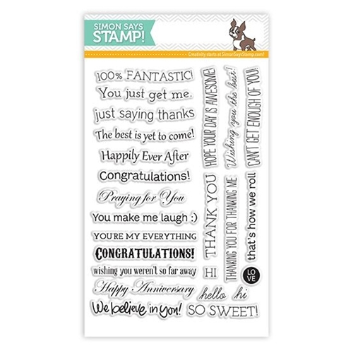 Simon Says Clear Stamps TILTED BANNER SAYINGS sss101307 Preview Image
