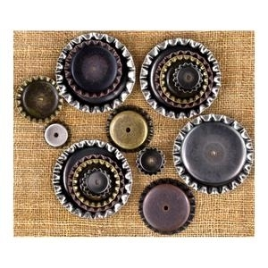 Prima Marketing BOTTLE CAPS Sunrise Sunset Vintage Trinkets 960391 Preview Image