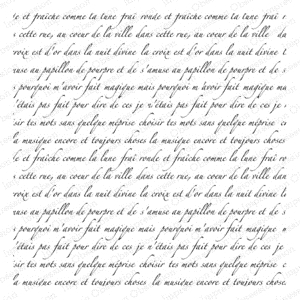 Impression Obsession Cling Stamp FRENCH TEXT CC151