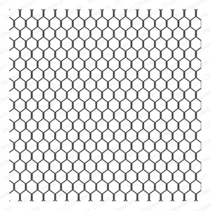 Impression Obsession Cling Stamp CHICKEN WIRE CC155