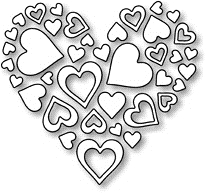 Impression Obsession Steel Dies HEART OF HEARTS DIE052-I