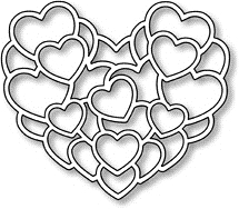 Impression Obsession Steel Dies LAYERED HEARTS DIE056-J