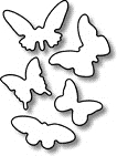 Impression Obsession Steel Dies BUTTERFLY SET DIE046-A