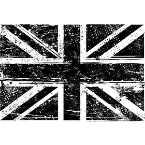 Tim Holtz Rubber Stamp UNION JACK Stampers Anonymous U1-2106