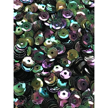 Sequins Cupped BLACK IRIDESCENT Pack of 1000 i5sc94