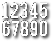 Simon Says Stamp SIMPLE NUMBERS Craft DIE S153 Preview Image