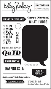 Kelly Purkey Clear Stamps HAPPINESS IS HAP313 Preview Image