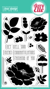 Avery Elle Clear Stamps PETALS & STEMS Set 020597