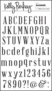 Kelly Purkey Clear Stamps ELEANOR Alphabet ELE313