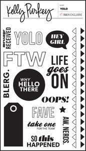 Kelly Purkey Clear Stamps YOLO YOL313