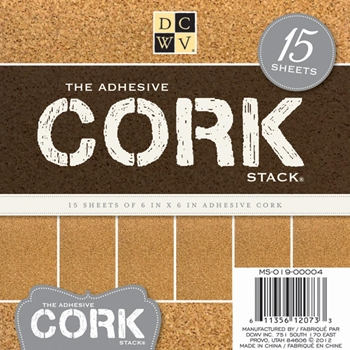 DCWV Cardstock 6 x 6 THE ADHESIVE CORK STACK Matstack MS-019-00004