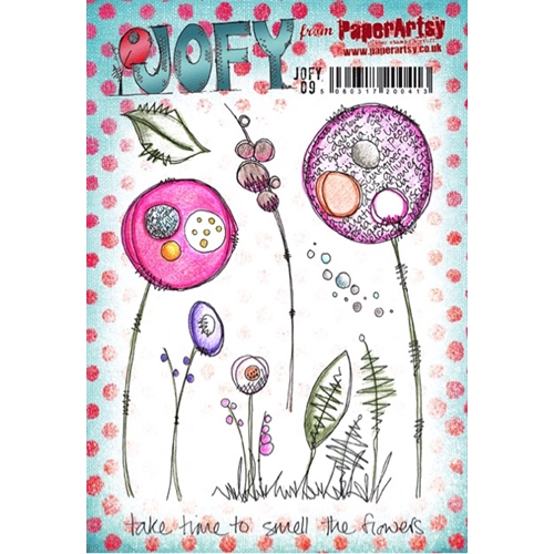 Paper Artsy JOFY 09 Smell The Flowers Rubber Cling Stamp JOFY09 Preview Image