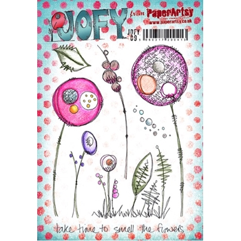 Paper Artsy JOFY 09 Smell The Flowers Rubber Cling Stamp JOFY09